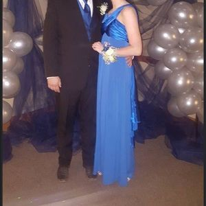 David's Bridal Blue Formal dress